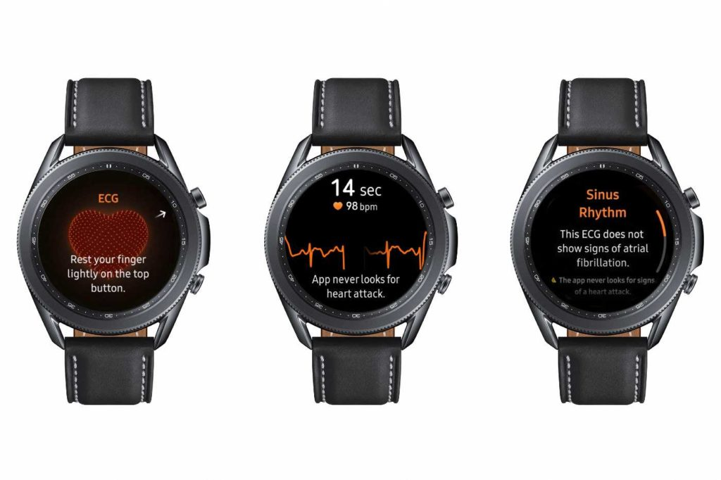 By measuring the HRV, the Samsung galaxy watch active 2 gives an idea of the stress level