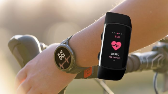 android watch with ecg